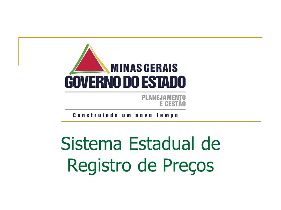 Sistema Estadual de Registro de Preços
