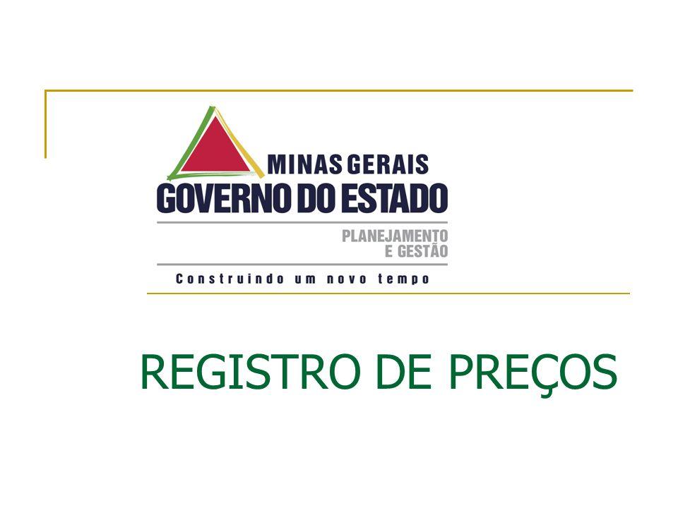 REGISTRO DE PREÇOS