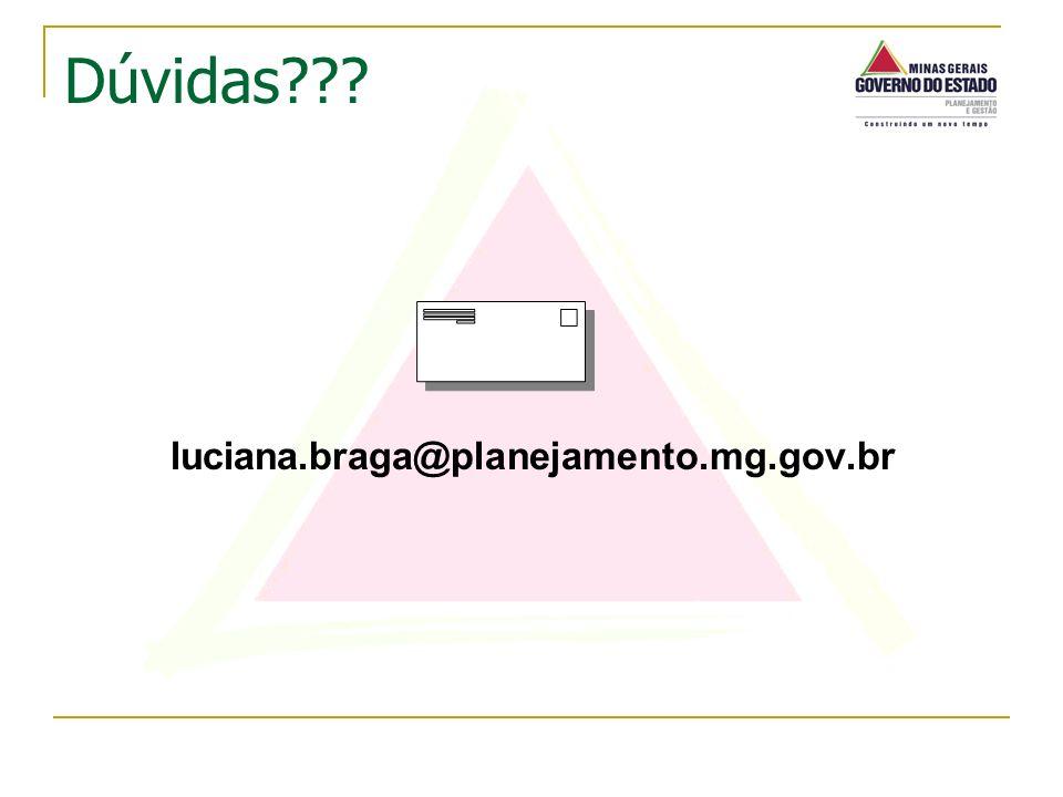 luciana.braga@planejamento.mg.gov.br Dúvidas???