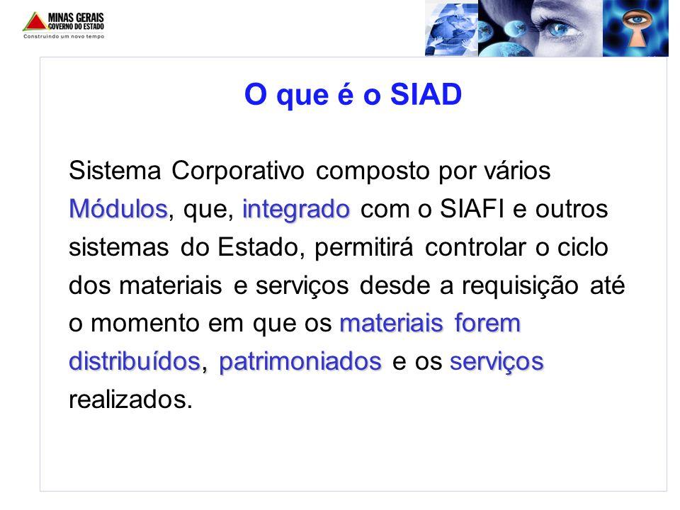O que é o SIAD Módulosintegrado materiais forem distribuídos, patrimoniados erviços Sistema Corporativo composto por vários Módulos, que, integrado co