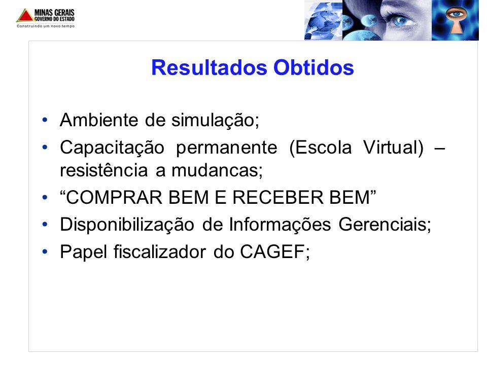 Ambiente de simulação; Capacitação permanente (Escola Virtual) – resistência a mudancas; COMPRAR BEM E RECEBER BEM Disponibilização de Informações Ger