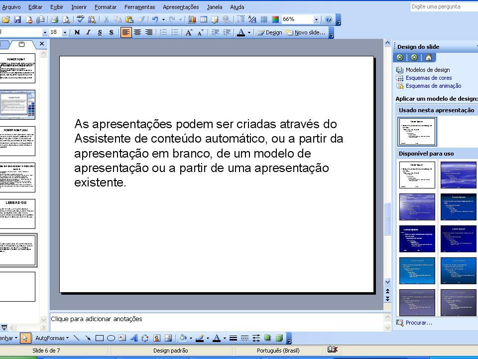 REGRAS BASICAS Para adicionar um texto é preciso adicionar uma caixa de texto ; Para adicionar um texto é preciso adicionar uma caixa de texto ; Para alterar um texto, é necessário primeiro selecioná-lo.