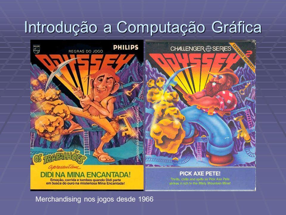 Introdução a Computação Gráfica Merchandising nos jogos desde 1966