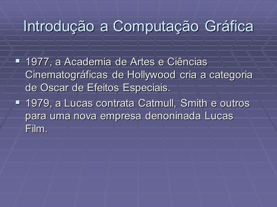 1977, a Academia de Artes e Ciências Cinematográficas de Hollywood cria a categoria de Oscar de Efeitos Especiais. 1977, a Academia de Artes e Ciência