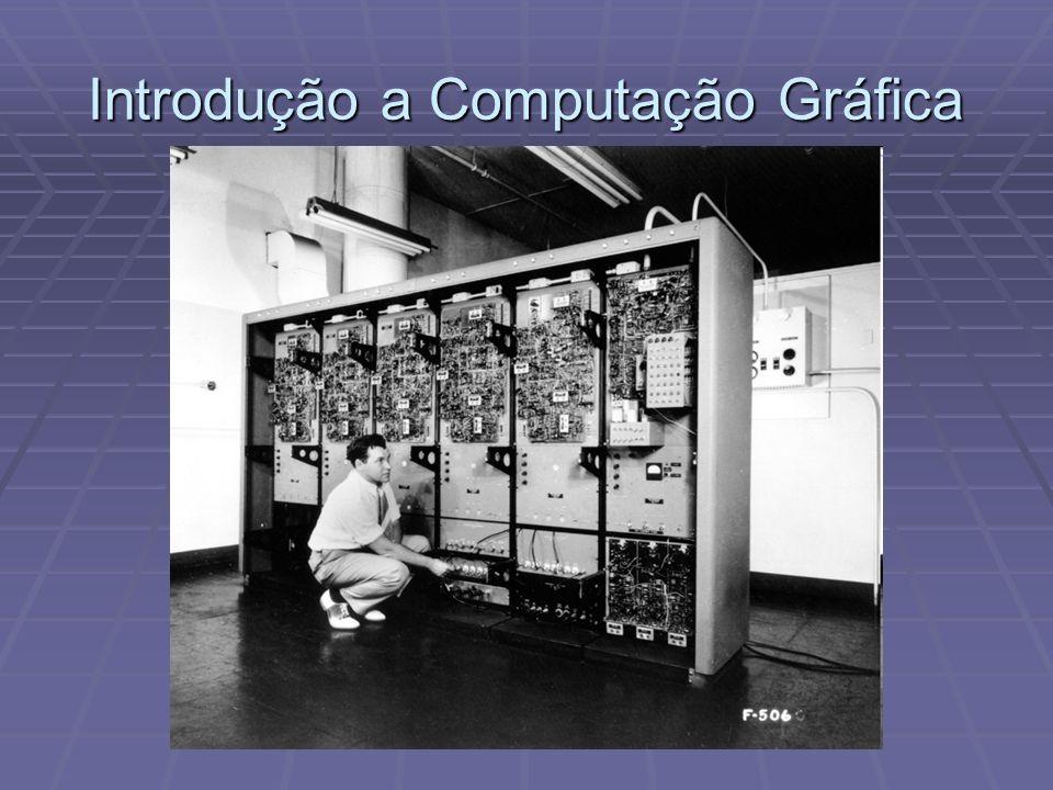 1885, tecnologia de raios catódicos 1885, tecnologia de raios catódicos 1927, a indústria cinematográfica define o padrão 24 imagens por segundo (fps) 1927, a indústria cinematográfica define o padrão 24 imagens por segundo (fps) 1930, o primeiro computador é construído (ENIAC) 1930, o primeiro computador é construído (ENIAC) 1961, MIT desenvolve o primeiro jogo de computador (Spacewars).