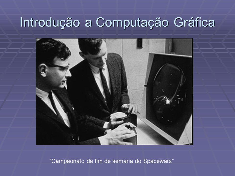 Introdução a Computação Gráfica 1963, Sutherland apresenta um sistema de desenho interativo de primitivas gráficas 2D baseado em caneta.