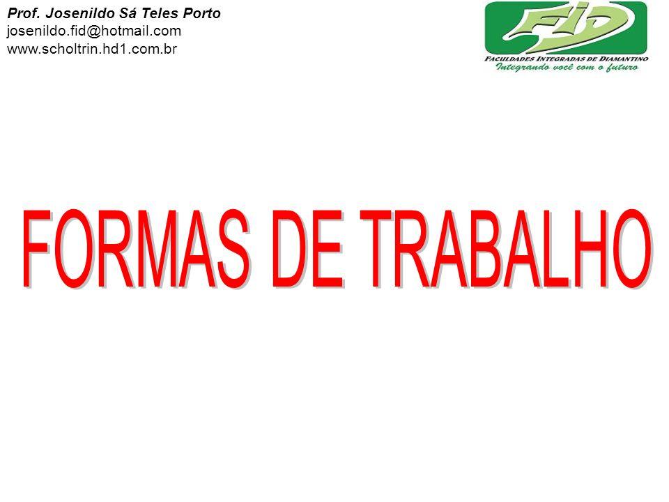 CONTRATO DE TRABALHO: 50 % ALUNOS 50 % PROFESSOR HONESTIDADE SINCERIDADE RESPEITO CONFIANÇA Prof.