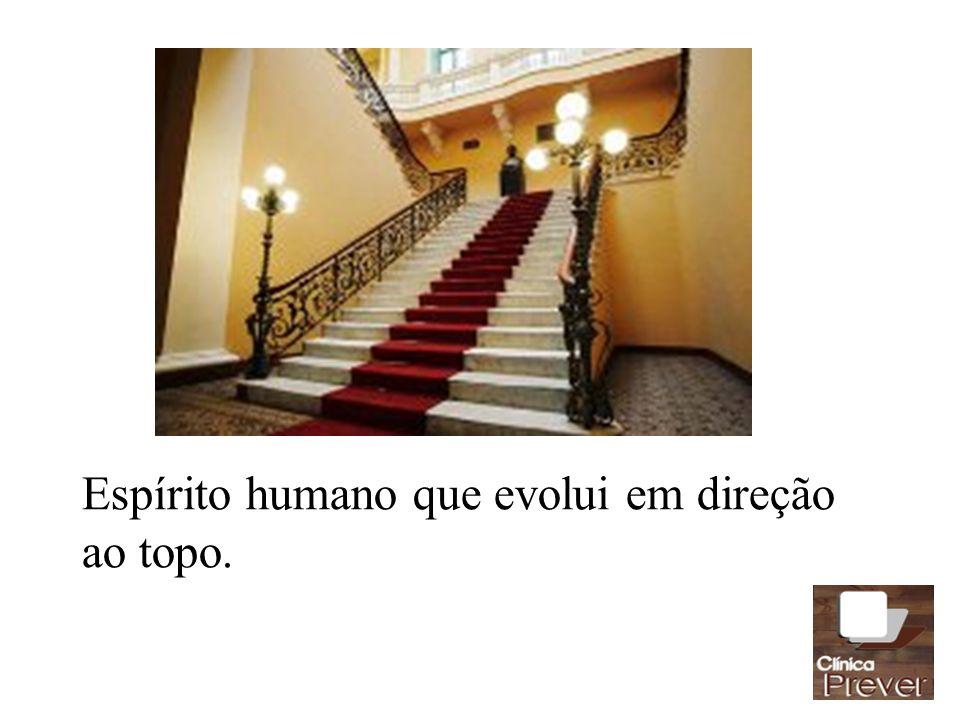 Espírito humano que evolui em direção ao topo.