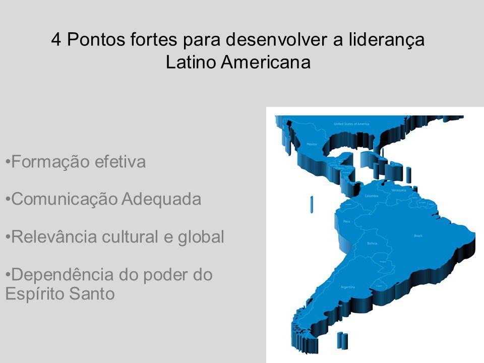Formação efetiva Comunicação Adequada Relevância cultural e global Dependência do poder do Espírito Santo