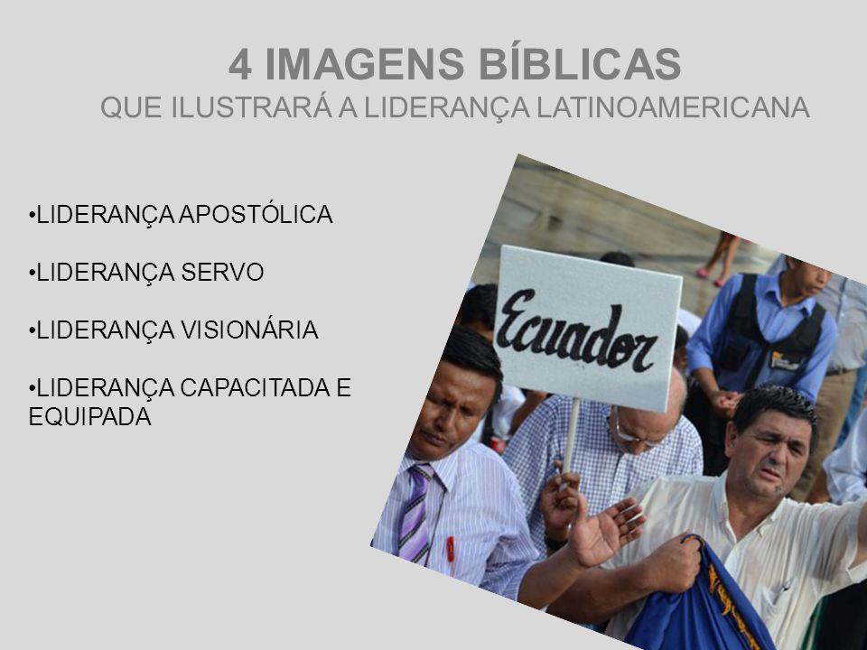 LIDERANÇA APOSTÓLICA LIDERANÇA SERVO LIDERANÇA VISIONÁRIA LIDERANÇA CAPACITADA E EQUIPADA