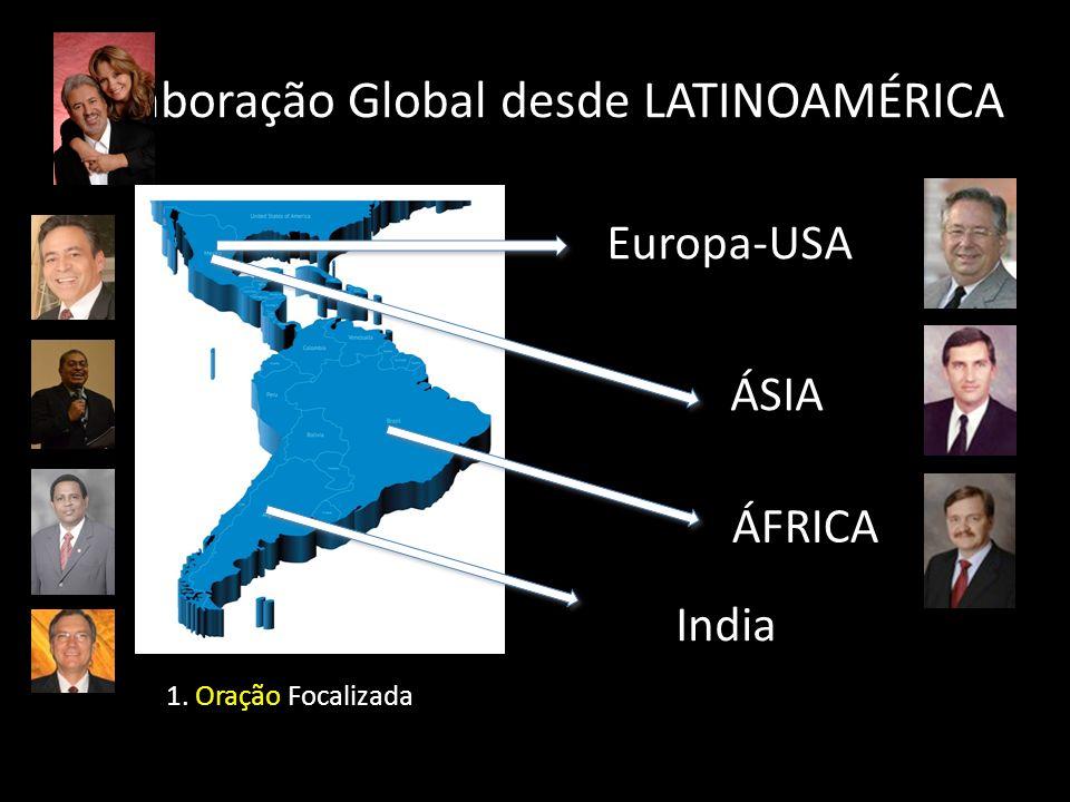 Colaboração Global desde LATINOAMÉRICA Europa-USA ÁSIA ÁFRICA India 1. Oração Focalizada