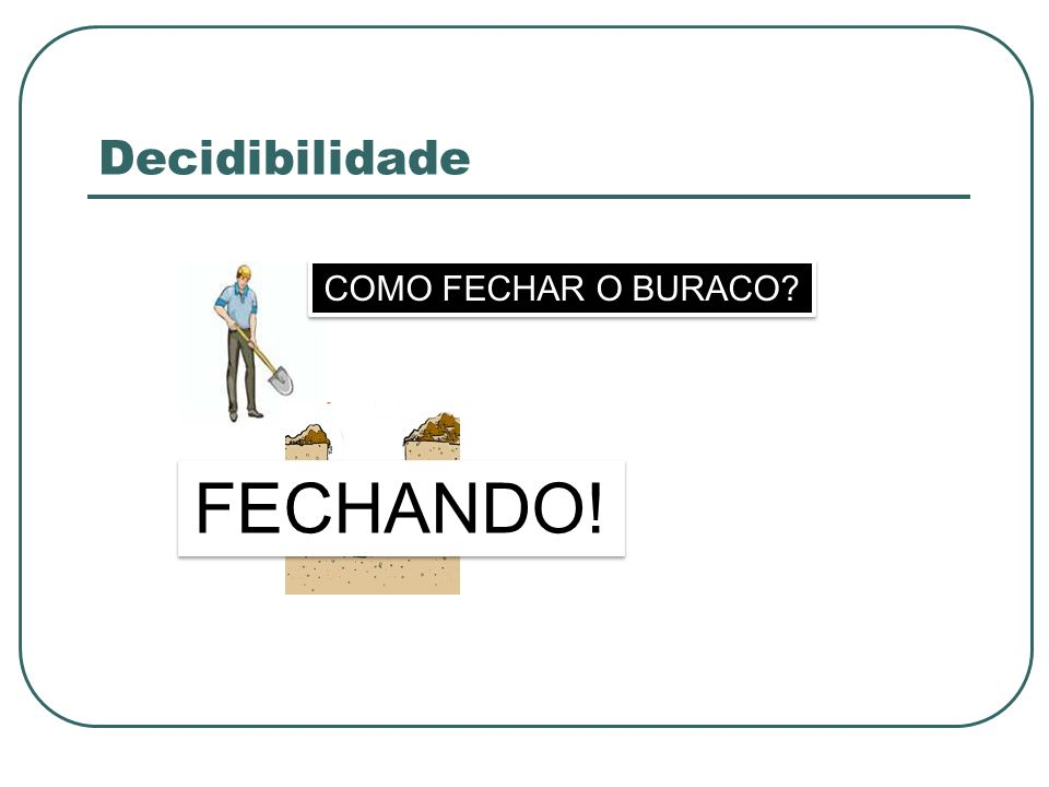 Decidibilidade FECHANDO! COMO FECHAR O BURACO?