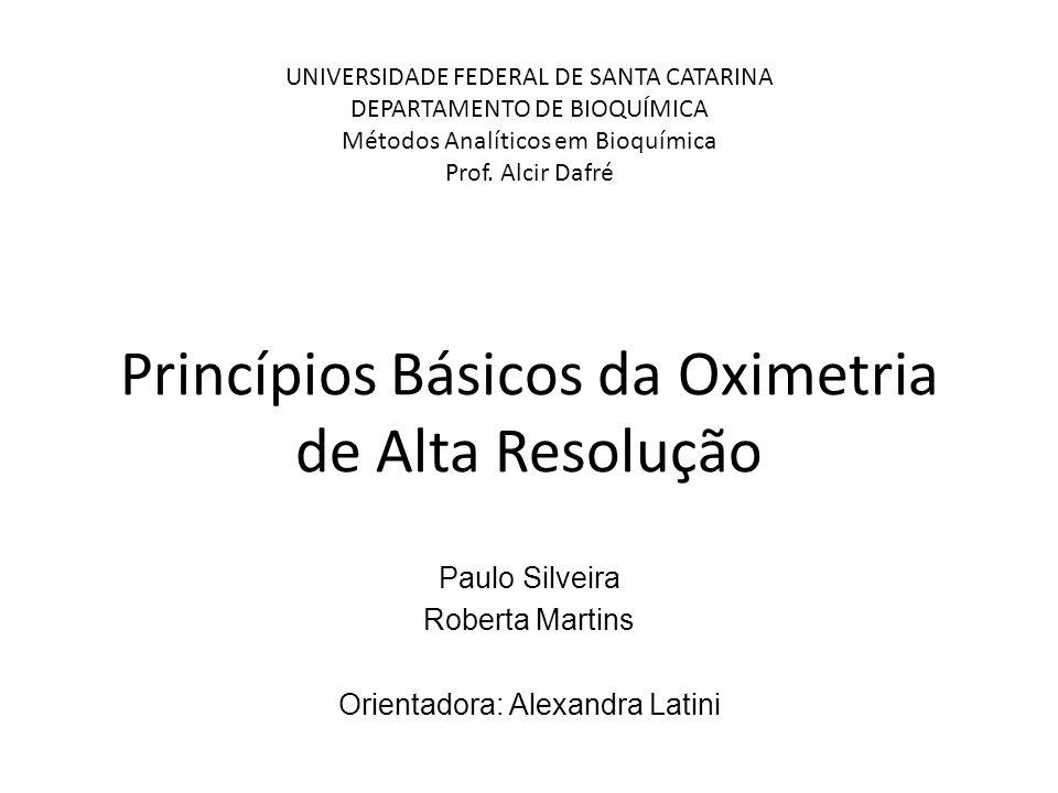 Princípios Básicos da Oximetria de Alta Resolução Paulo Silveira Roberta Martins Orientadora: Alexandra Latini UNIVERSIDADE FEDERAL DE SANTA CATARINA