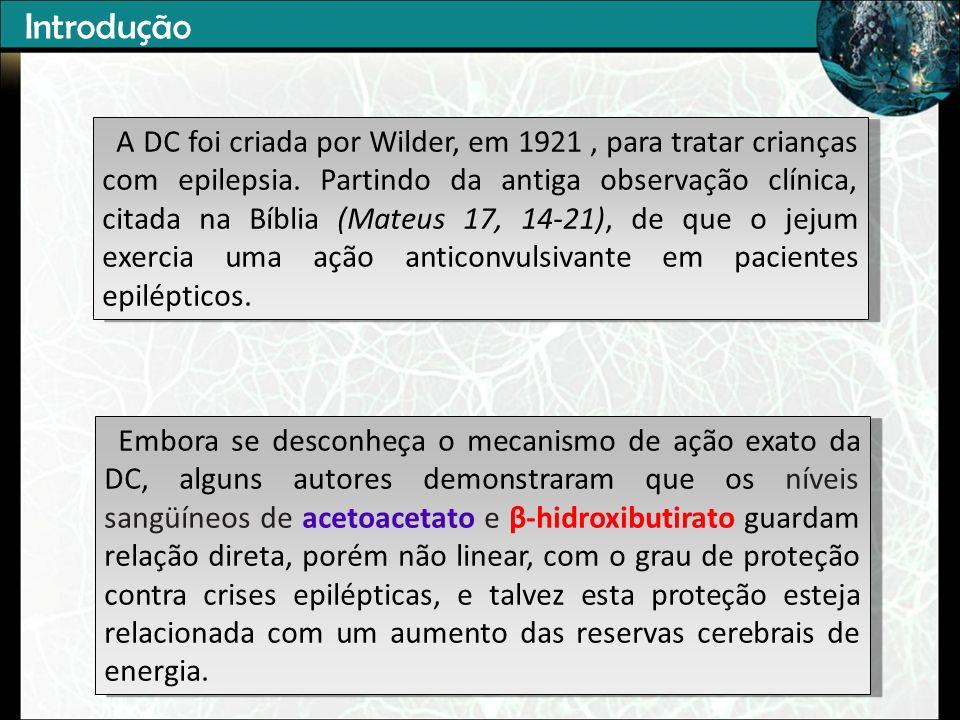 A DC foi criada por Wilder, em 1921, para tratar crianças com epilepsia.