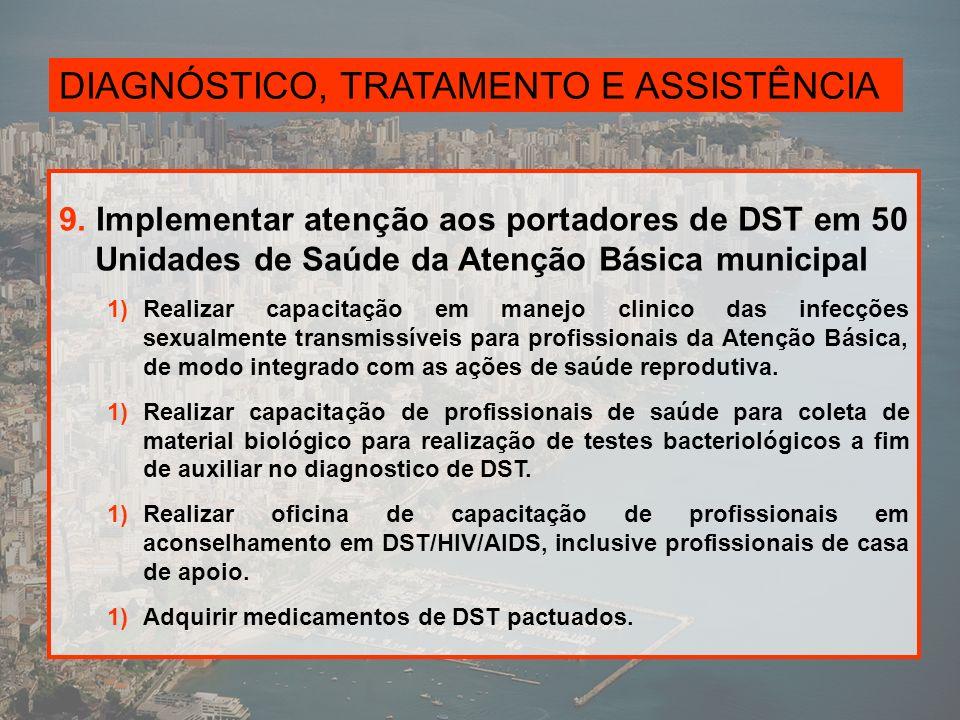 DIAGNÓSTICO, TRATAMENTO E ASSISTÊNCIA 9.