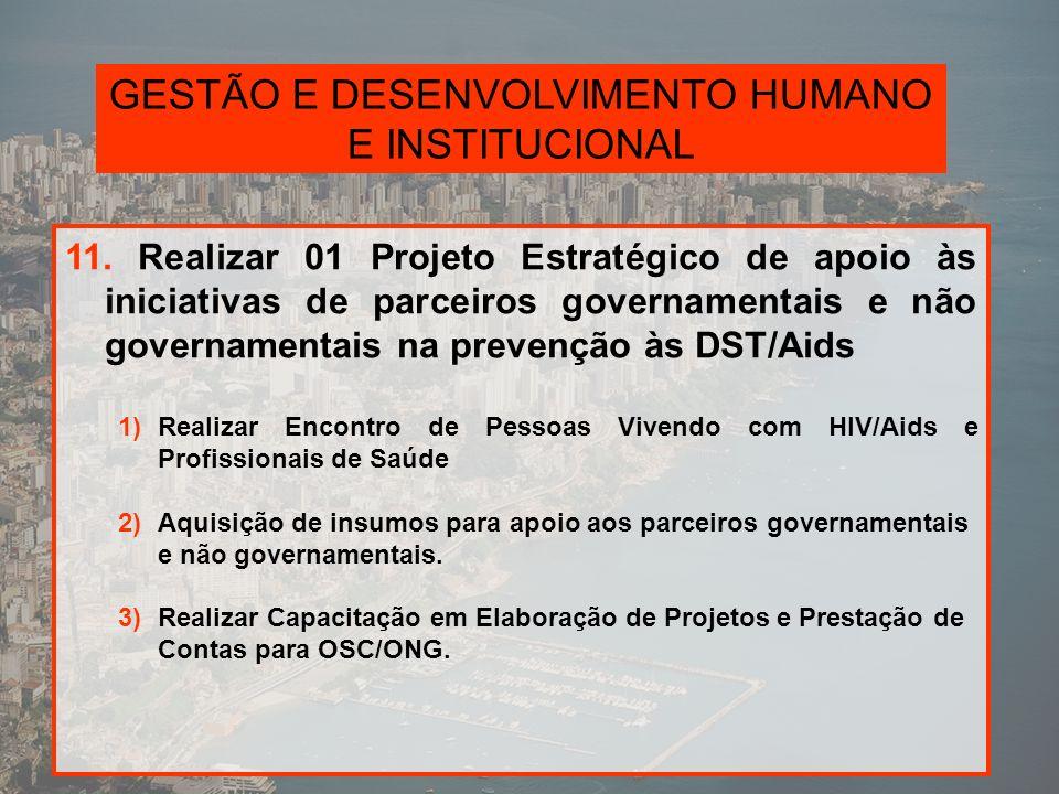 GESTÃO E DESENVOLVIMENTO HUMANO E INSTITUCIONAL 12.