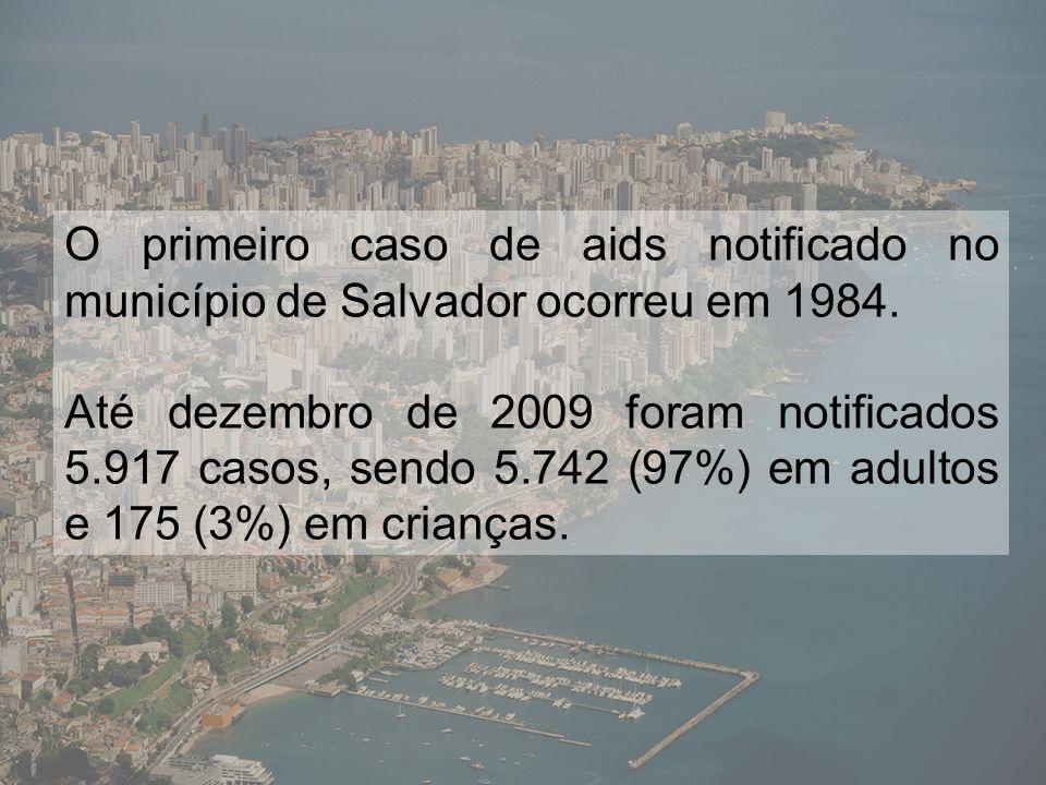 Número de casos de aids, segundo ano de diagnóstico.