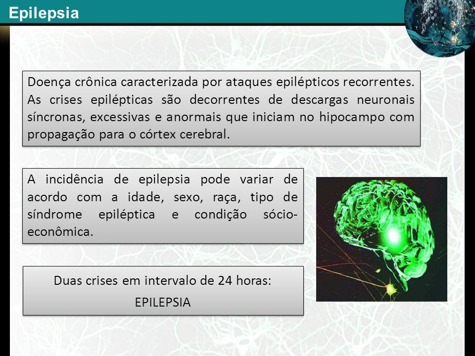 Doença crônica caracterizada por ataques epilépticos recorrentes. As crises epilépticas são decorrentes de descargas neuronais síncronas, excessivas e