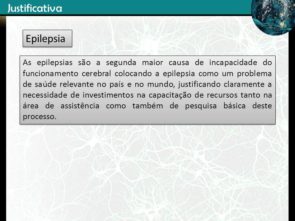 As epilepsias são a segunda maior causa de incapacidade do funcionamento cerebral colocando a epilepsia como um problema de saúde relevante no país e