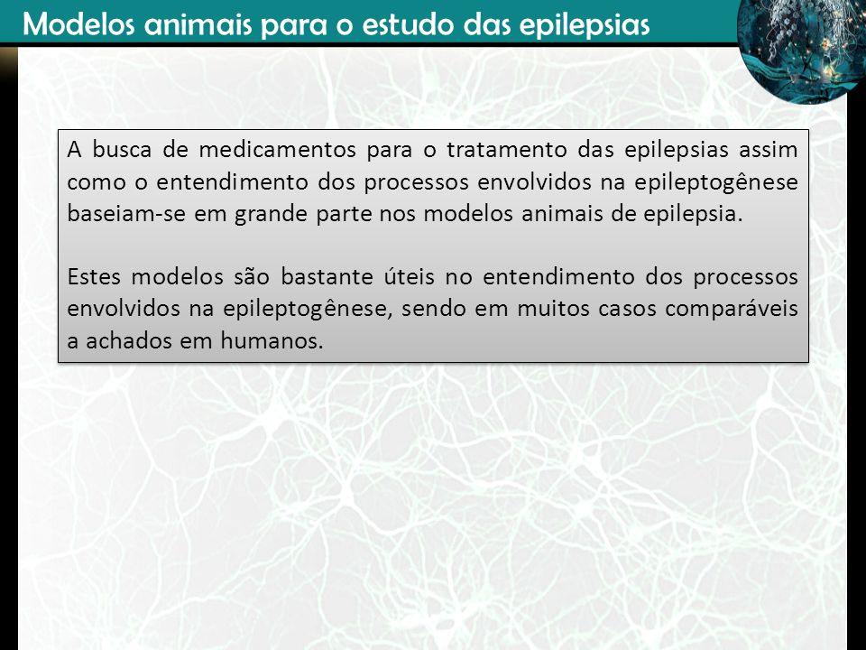 Modelos animais para o estudo das epilepsias A busca de medicamentos para o tratamento das epilepsias assim como o entendimento dos processos envolvid