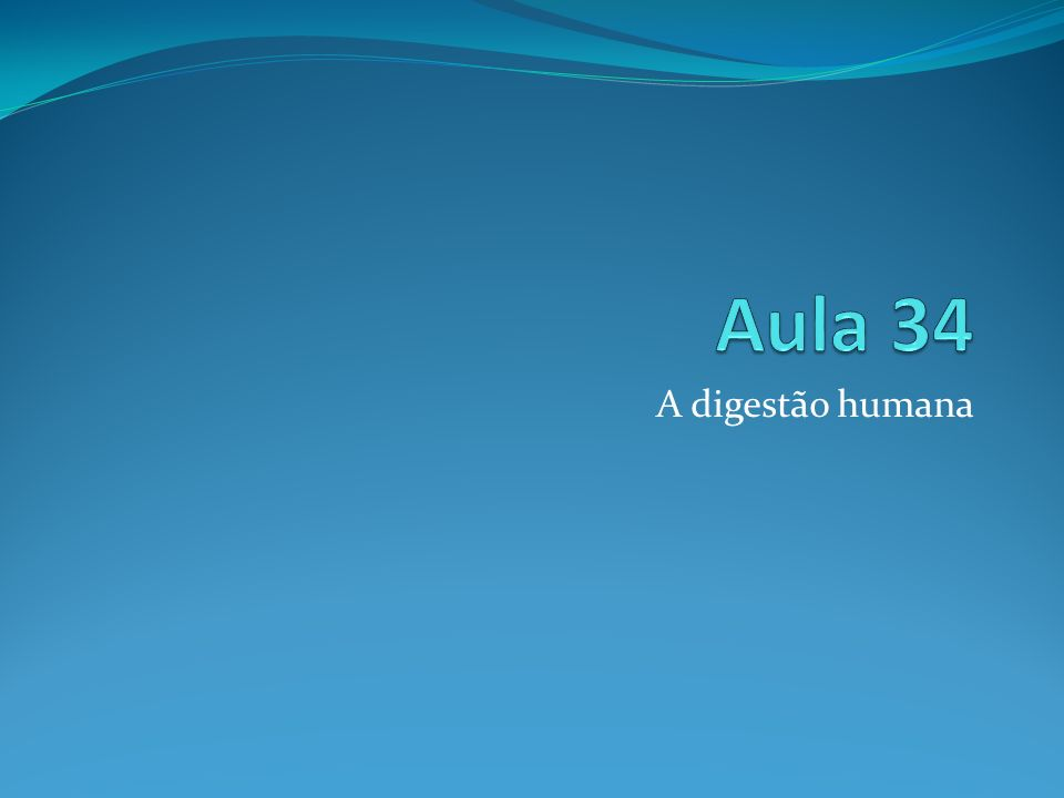 A digestão humana