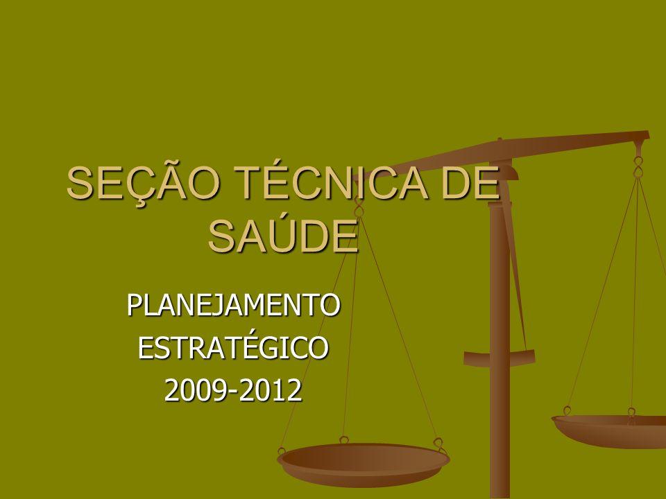 SEÇÃO TÉCNICA DE SAÚDE PLANEJAMENTOESTRATÉGICO2009-2012