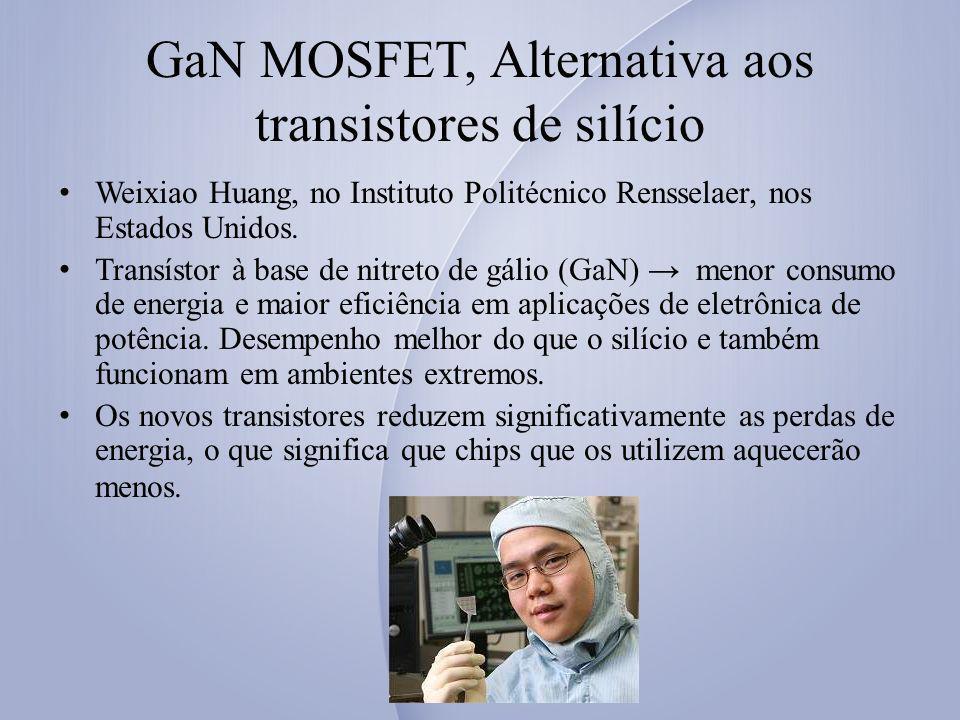 GaN MOSFET, Alternativa aos transistores de silício Weixiao Huang, no Instituto Politécnico Rensselaer, nos Estados Unidos.