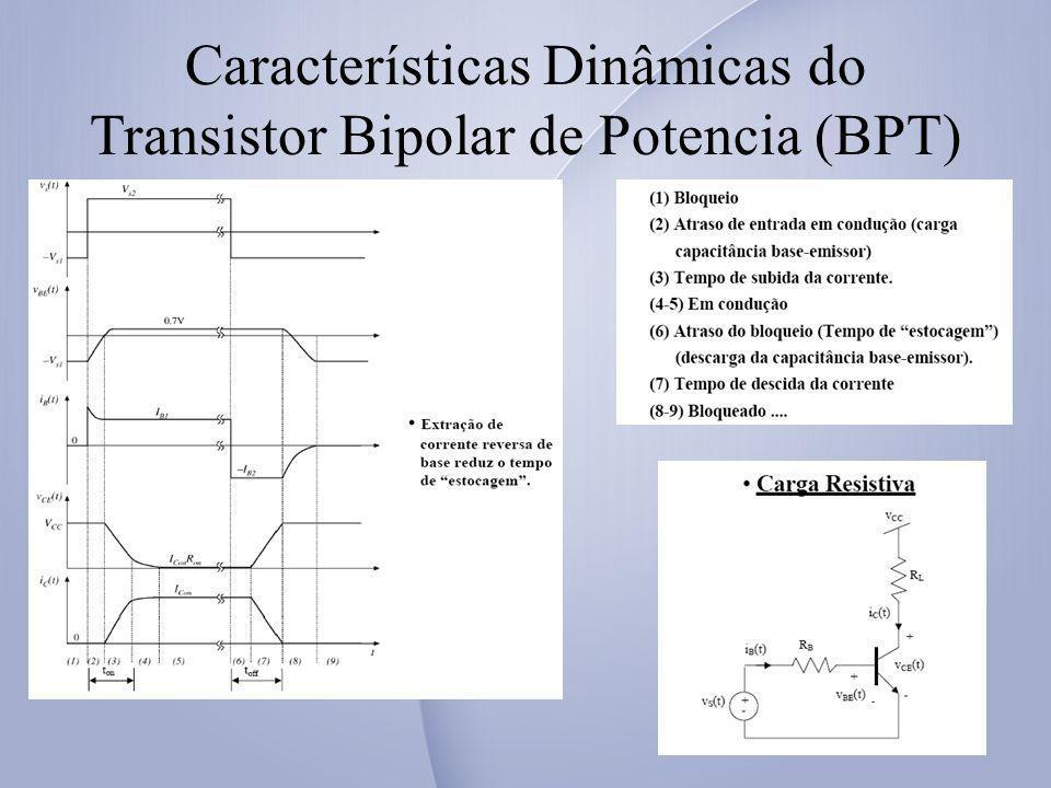 Características Dinâmicas do Transistor Bipolar de Potencia (BPT)