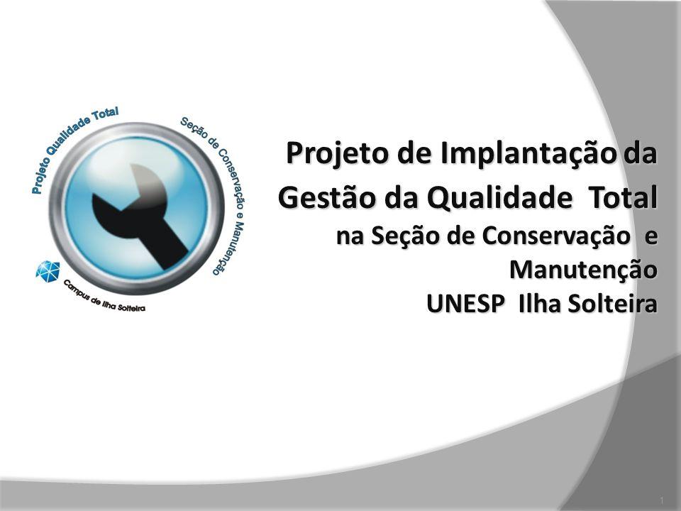 Projeto de Implantação da Gestão da Qualidade Total na Seção de Conservação e Manutenção UNESP Ilha Solteira 1