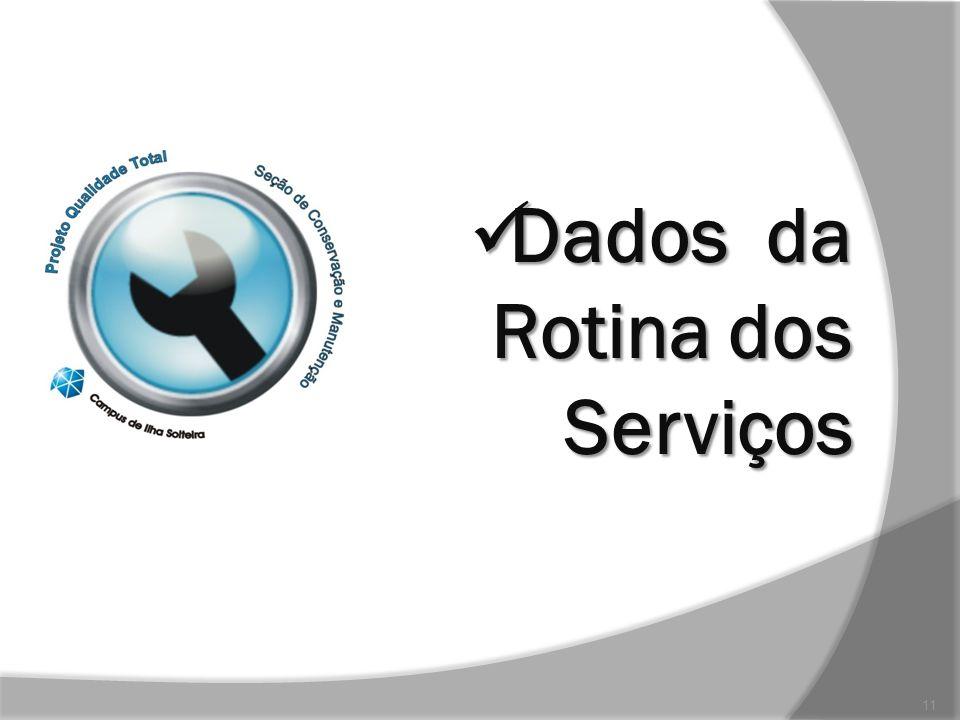 Dados da Rotina dos Serviços Dados da Rotina dos Serviços 11