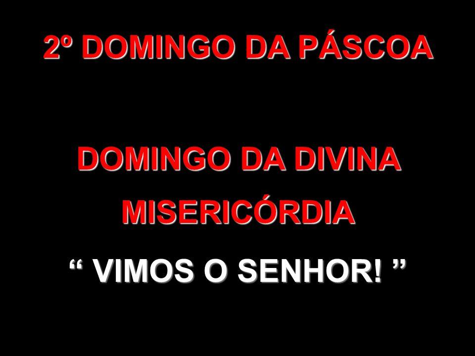 2º DOMINGO DA PÁSCOA DOMINGO DA DIVINA MISERICÓRDIA VIMOS O SENHOR! VIMOS O SENHOR!