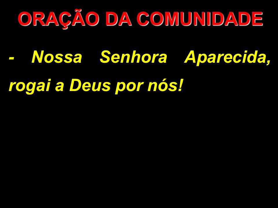ORAÇÃO DA COMUNIDADE - Nossa Senhora Aparecida, rogai a Deus por nós!