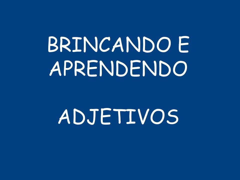 BRINCANDO E APRENDENDO ADJETIVOS