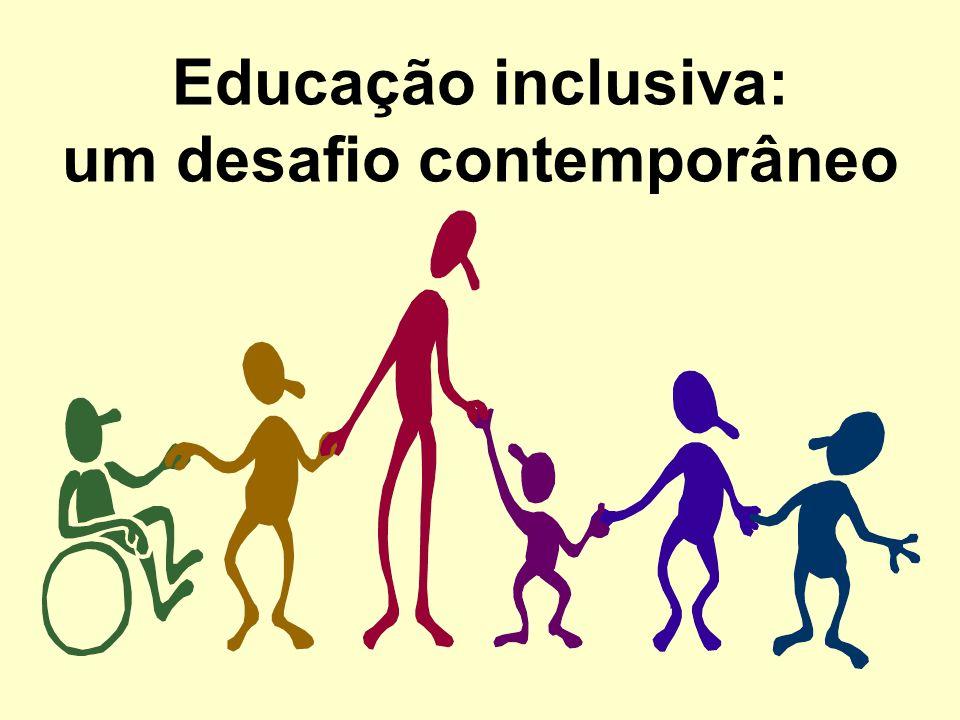 Um pouco da historia Conferência Mundial de Educação; O UNESCO(1990), Brasil assume o compromisso de lutar pelo ensino inclusivo; A Lei nº.