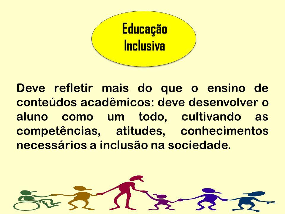 Deve refletir mais do que o ensino de conteúdos acadêmicos: deve desenvolver o aluno como um todo, cultivando as competências, atitudes, conhecimentos