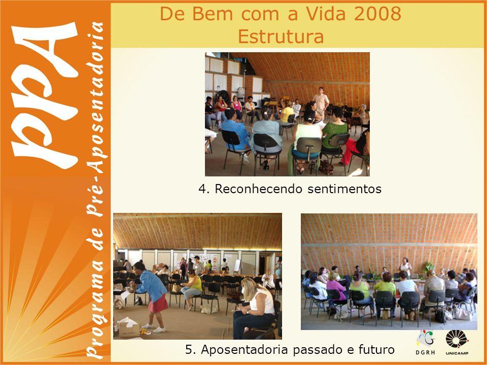 De Bem com a Vida 2008 Estrutura 4. Reconhecendo sentimentos 5. Aposentadoria passado e futuro