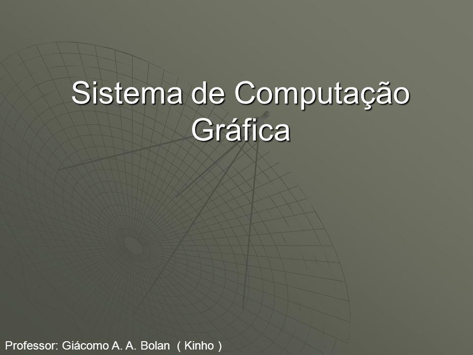 Sistema de Computação Gráfica Professor: Giácomo A. A. Bolan ( Kinho )