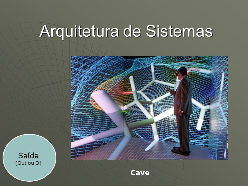 Arquitetura de Sistemas Saída (Out ou O) Cave