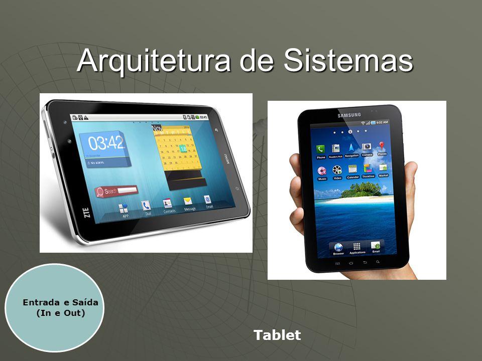 Arquitetura de Sistemas Entrada e Saída (In e Out) Tablet