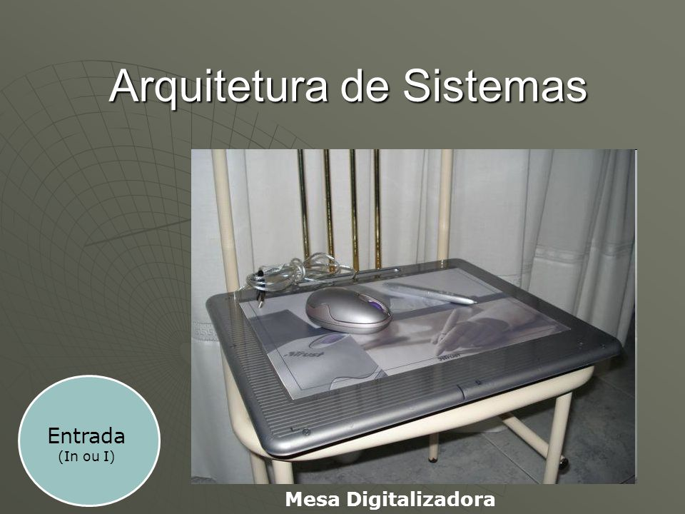 Arquitetura de Sistemas Entrada (In ou I) Mesa Digitalizadora