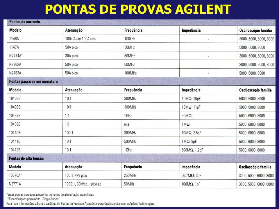 22 PONTAS DE PROVAS AGILENT