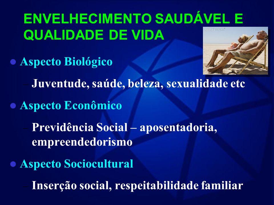 SENESCÊNCIA SAUDÁVEL FISIOLÓGICO ATIVO PRODUTIVO PARTICIPATIVO