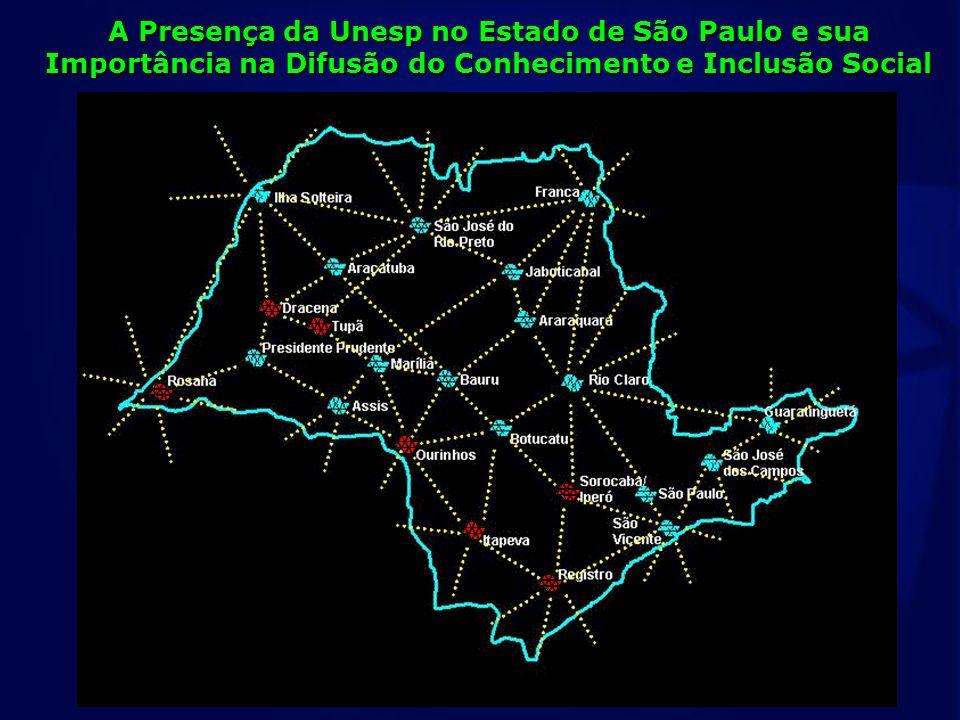 Campi Experimentais São Paulo São José dos Campos Guaratinguetá Botucatu Assis Bauru Marília Araçatuba São José do Rio Preto Ilha Solteira Rio Claro A