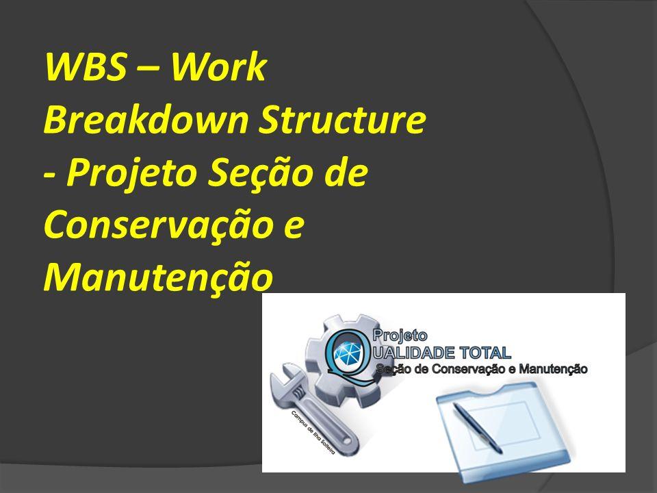 WBS – Work Breakdown Structure - Projeto Seção de Conservação e Manutenção