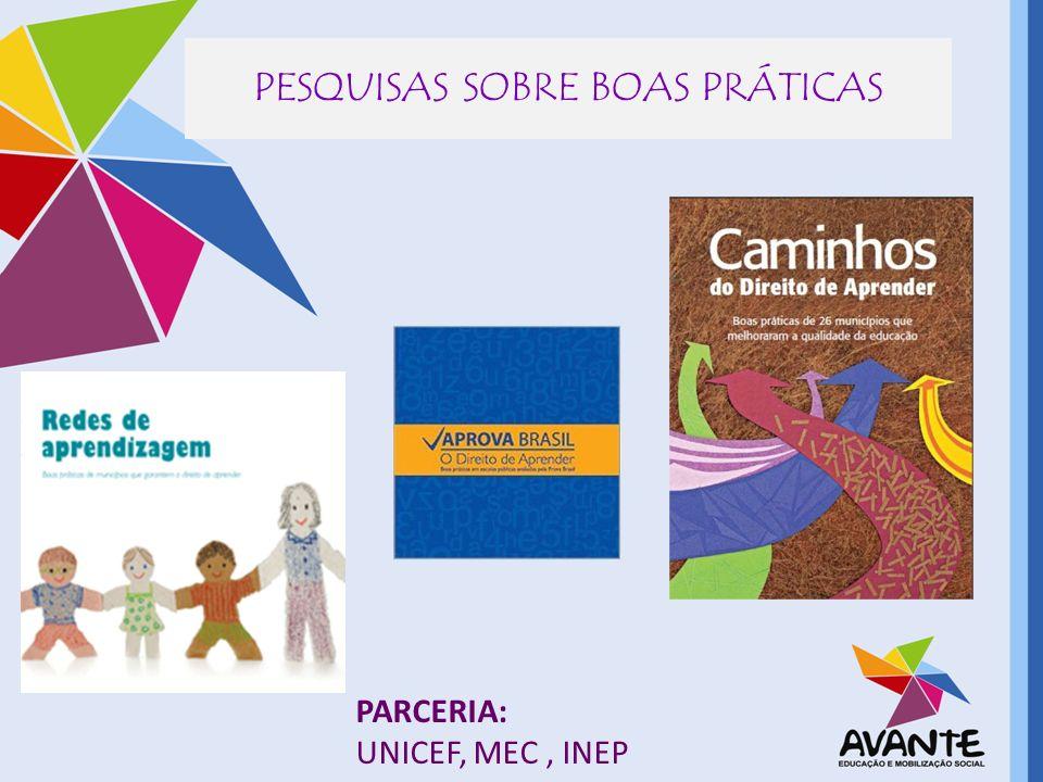 PESQUISAS SOBRE BOAS PRÁTICAS PARCERIA: UNICEF, MEC, INEP