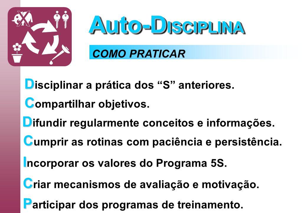 Auto-D ISCIPLINA D D isciplinar a prática dos S anteriores. C C ompartilhar objetivos. D D ifundir regularmente conceitos e informações. C C umprir as