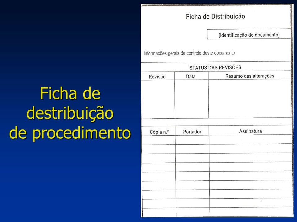 24 Ficha de destribuição de procedimento