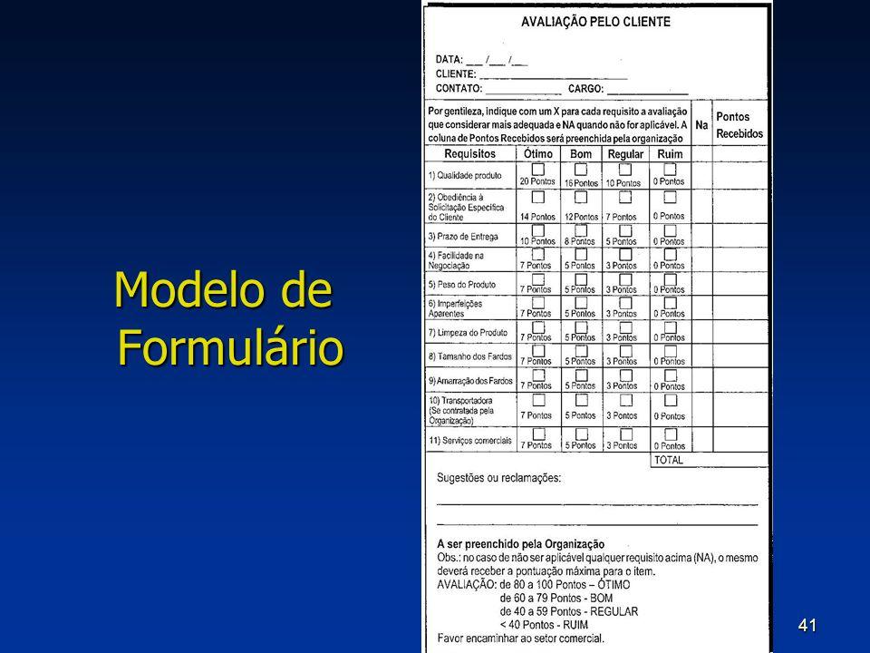 41 Modelo de Formulário
