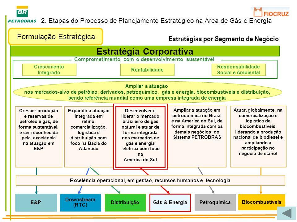 Desenvolver e liderar o mercado brasileiro de gás natural e atuar de forma integrada nos mercados de gás e energia elétrica com foco na América do Sul