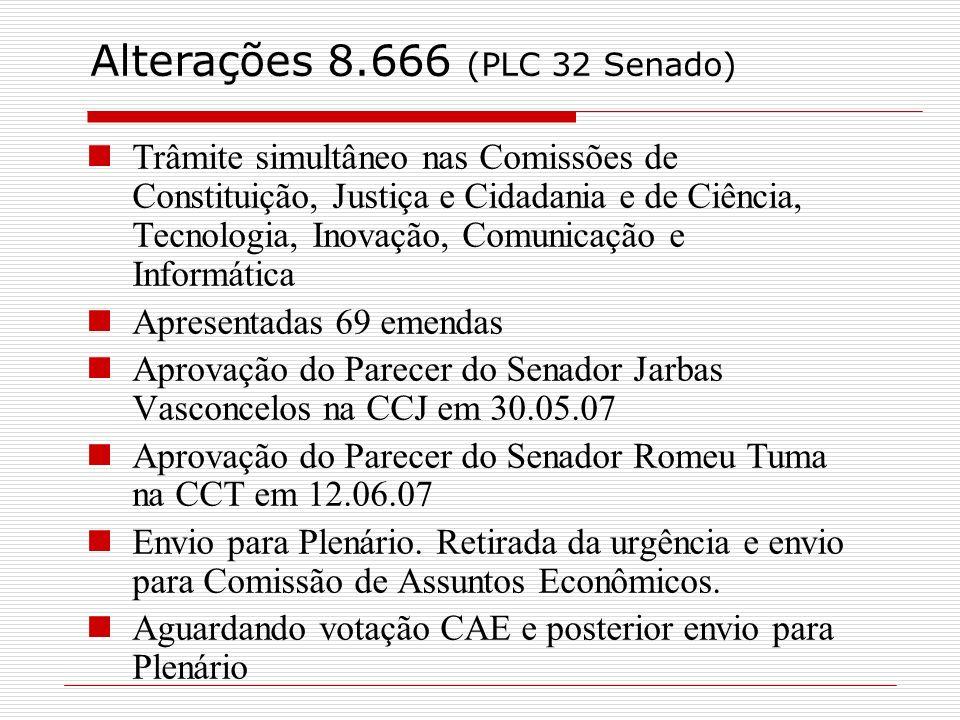 Trâmite simultâneo nas Comissões de Constituição, Justiça e Cidadania e de Ciência, Tecnologia, Inovação, Comunicação e Informática Apresentadas 69 em